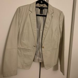 Kenneth Cole New York ivory leather blazer size sm